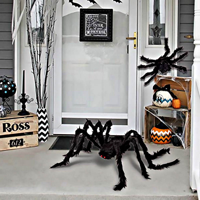 Halloween Spider Decorations, Scary Spider Props for Indoor, Outdoor and Yard Creepy Decor