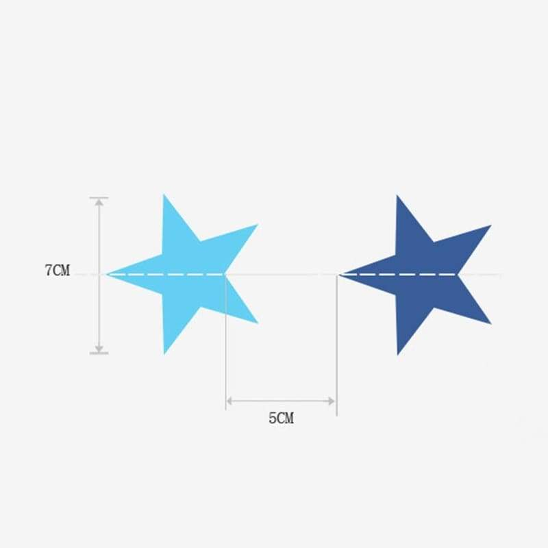 Paper garland wedding home star bunting party decoration