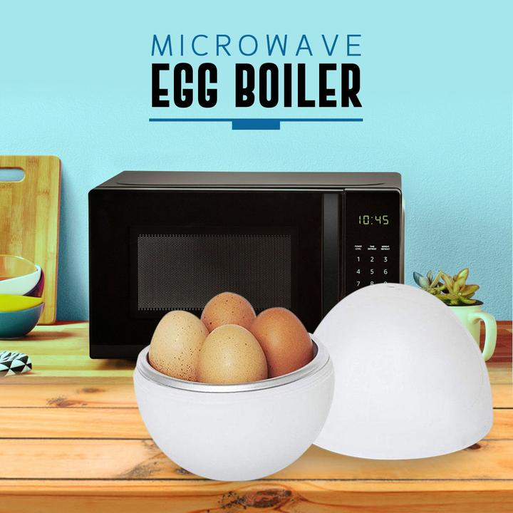 SKRTEN Microwave Oven Egg Boiler Steamer Cooker for 4 Eggs