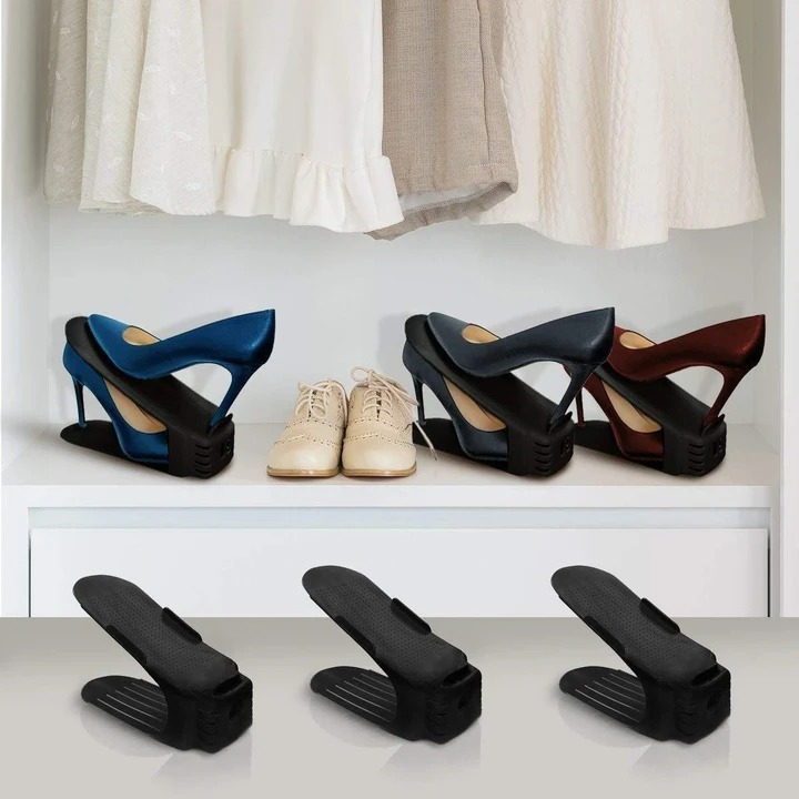 (BUY MORE SAVE MORE)ouble Deck Shoe Rack - A Space Saving Storage Solution!