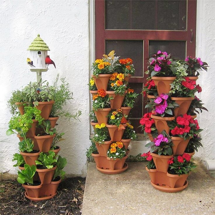 🌼The Earth Day 50%OFF-Stand Stacking Planters Strawberry Planting Pots