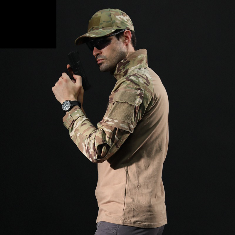Frog suit long sleeve suit Camouflage military training long sleeve