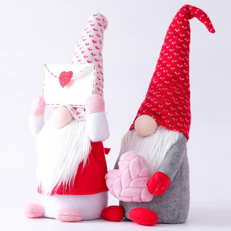 💗Valentine's Day💗Handcrafted Plush Gnome Dolls Family