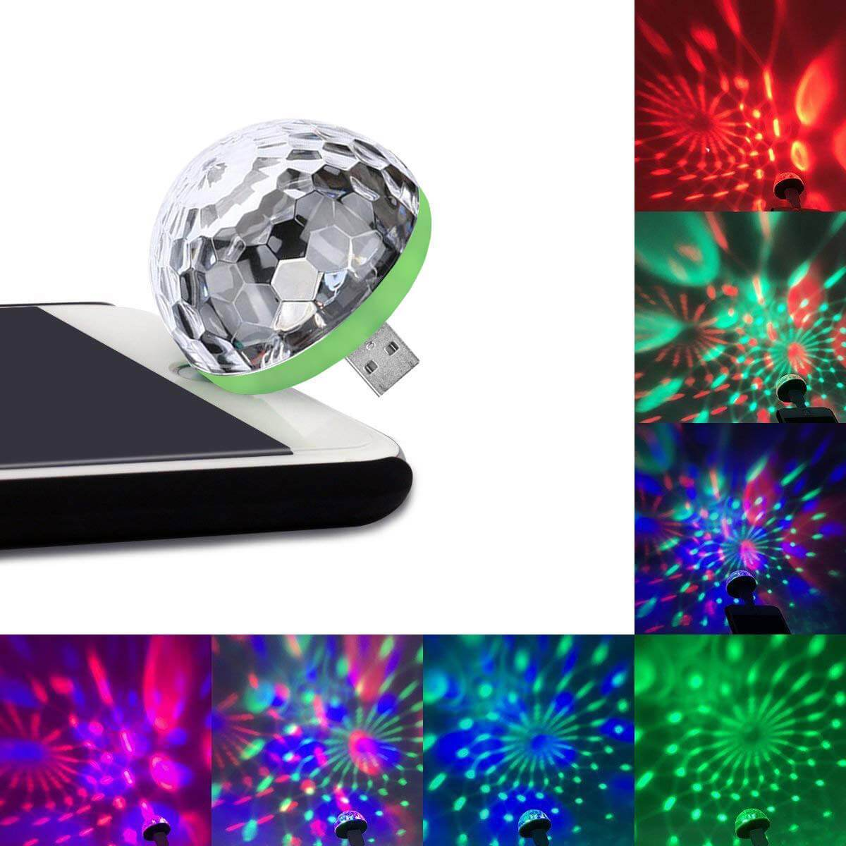Hot Selling 50,000 PACKS (Factory Outlet) Usb Party Lights Mini Disco Ball - Suitable for all phone types