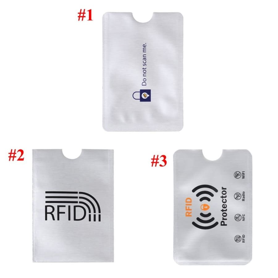 10pcs Smart Aluminium Anti Theft Prevent Scanning Cards Protector Sleeve Anti Rfid Wallet ID Bank Card Case Card Holder