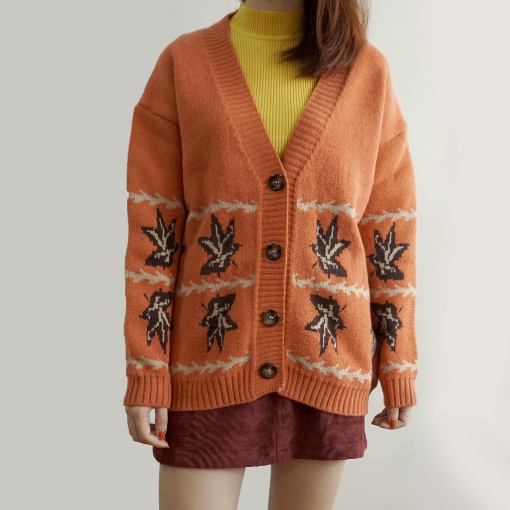 Casual Polyester Long Sleeve Floral with Cardigan