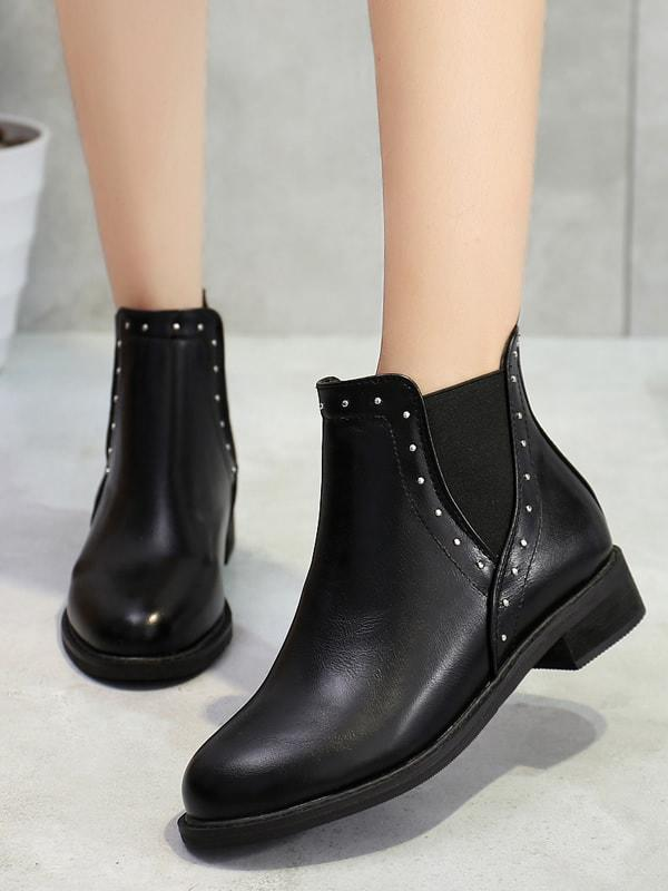Studded Decor Chelsea Boots