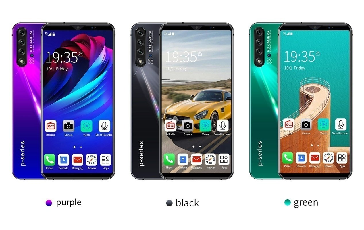 NOWA5 Pro 6.1inch Mobile Phone 8 + 128GB Large Memory 10 Core Android 9.1 System with Face Recognition Fingerprint Unlock Support Dual Card Dual Standby Smart Full Screen HD Mobile Phone