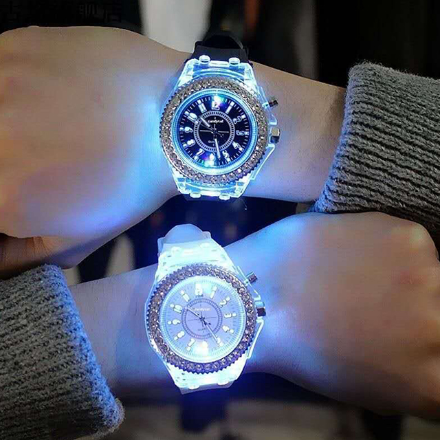(50%OFF)2020 diamond-studded colorful light color change watch(Buy 2 Free Shipping)