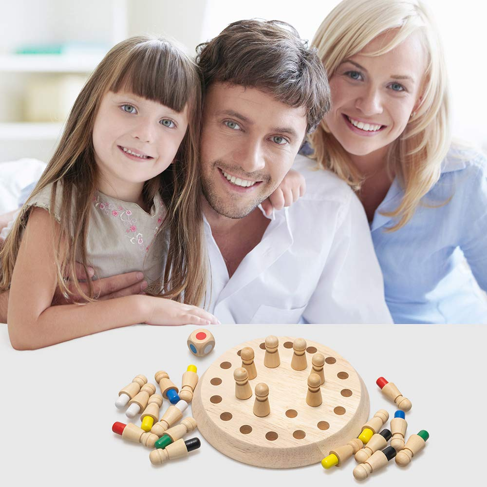 Children Wooden Memory Matchstick Chess Game(Buy 2 Get extra 10%OFF)