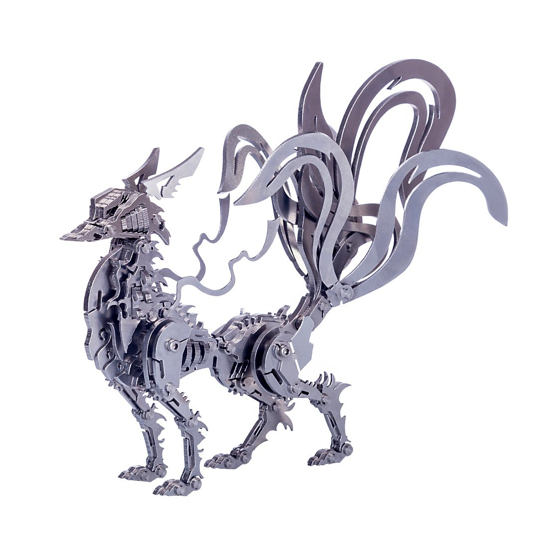 3D DIY Metal Puzzle Big Nine-tailed Fox Model Kit-Difficulty level: ⭐⭐⭐⭐⭐⭐