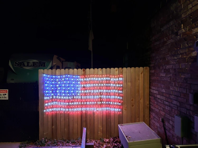 【LAST DAY 50% OFF】AMERICAN FLAG 420 LED STRING LIGHTS-LARGE USA FLAG OUTDOOR LIGHTS
