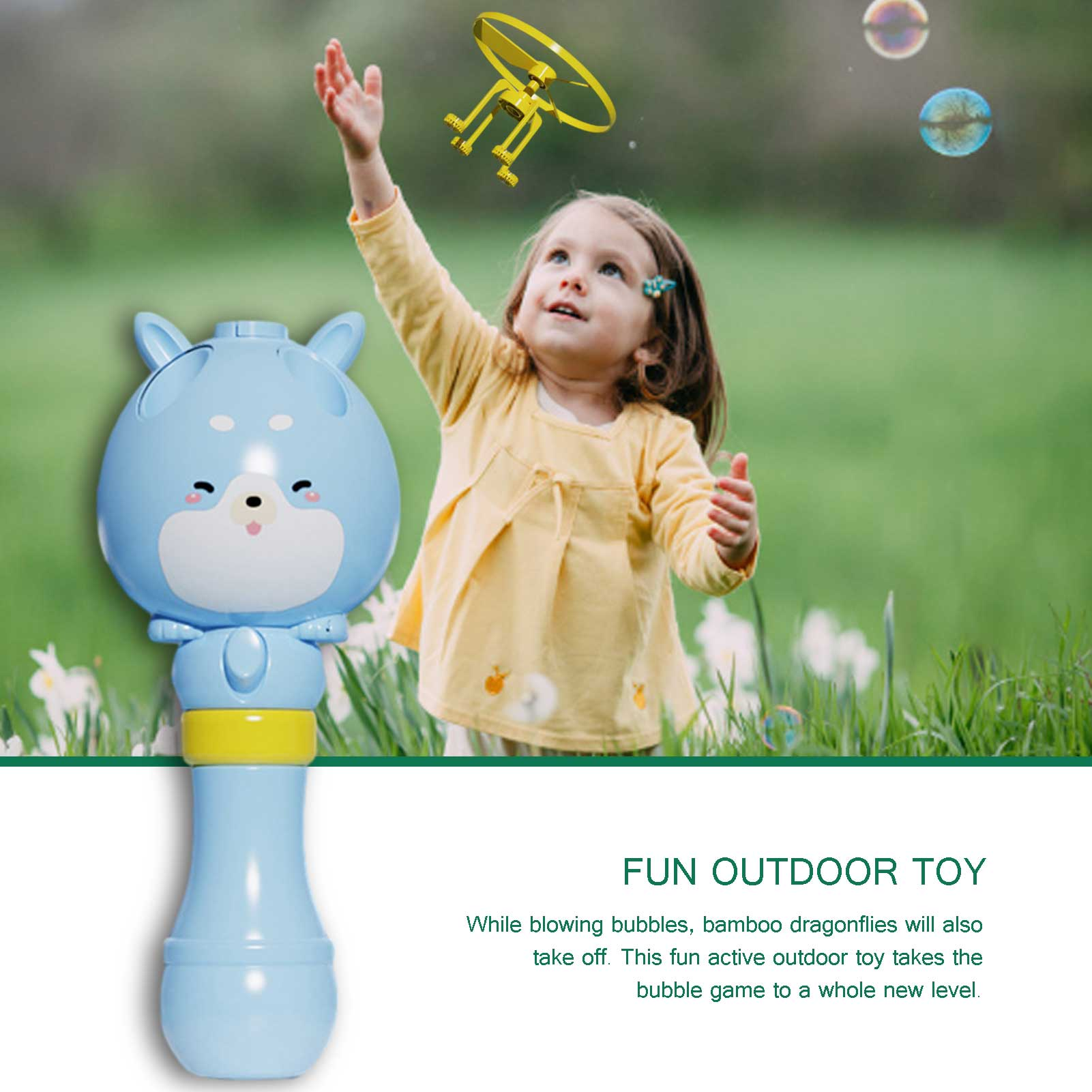 Bamboo Dragonfly Water Bubble Machine【50%OFF】