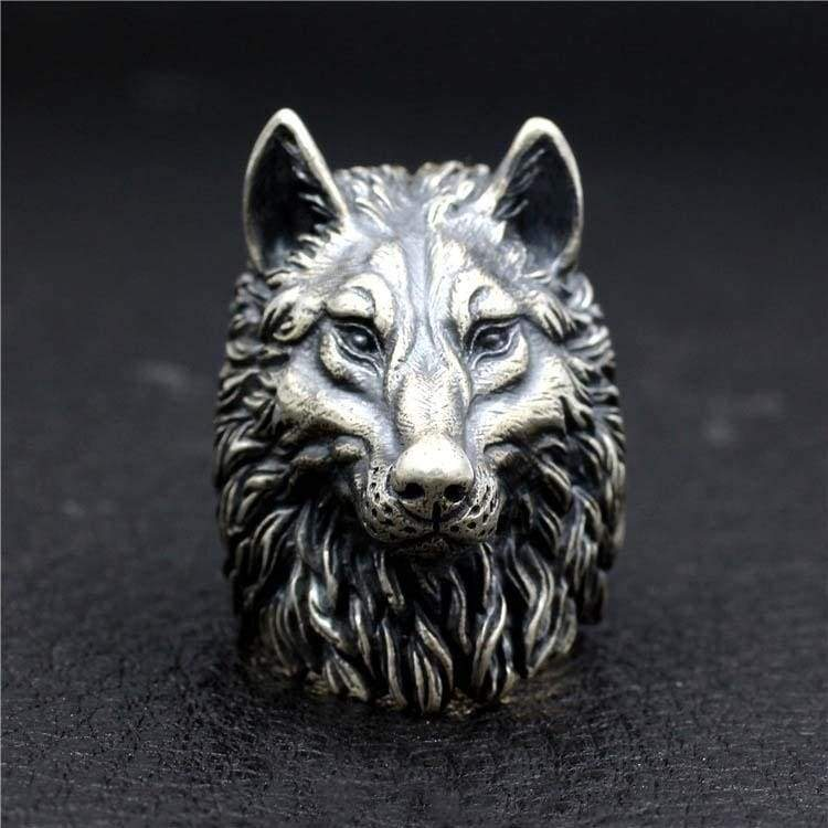 Latest Fashion Popular Hip Hop Men's Wolf Skull Ring 925 Sterling Silver Stainless Steel Titanium Steel Biker Punk Rings Party Wedding Engagement Jewelry Size 7-13