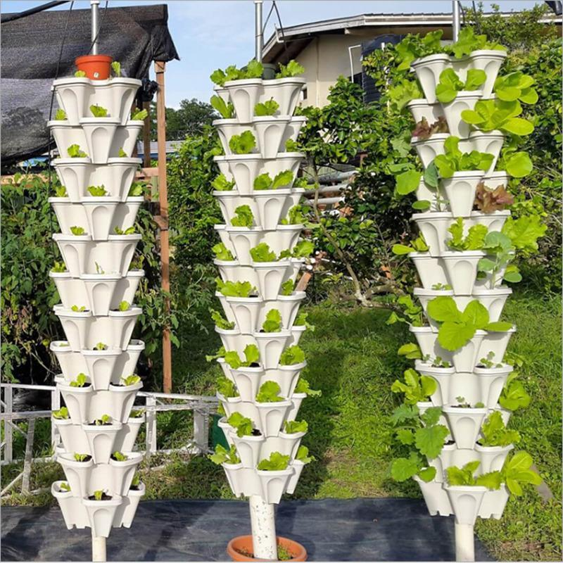 🌼Plant Festival Special50%OFF-Stand Stacking Planters Strawberry Planting Pots