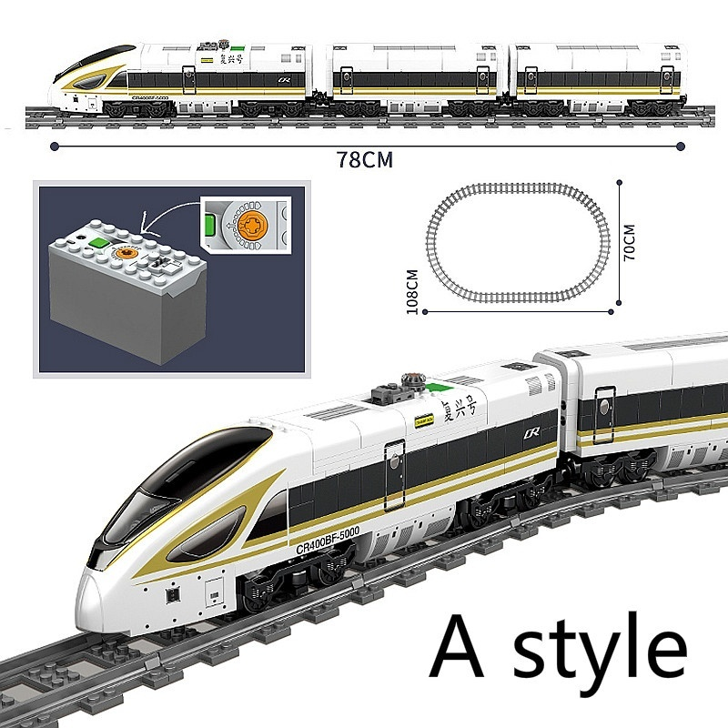 City Train Series The High-Speed Railway Kits Model Set Motor Car Building Blocks Toys For Children