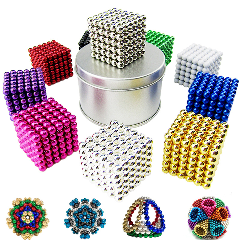 Multi Colored DigitDots 216 pieces 5 Millimeter Magnetic Balls