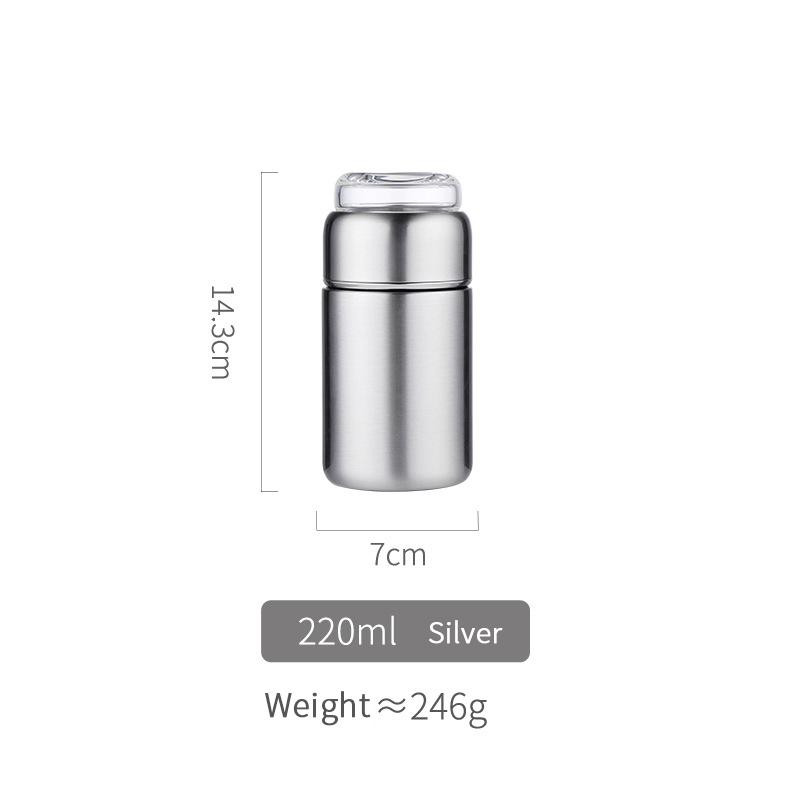 Personalized and simple in-vehicle high-end business tea and water separation portable insulation tea cup