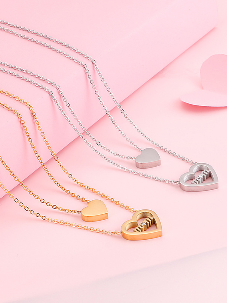 Mother's Day Double Heart Necklace