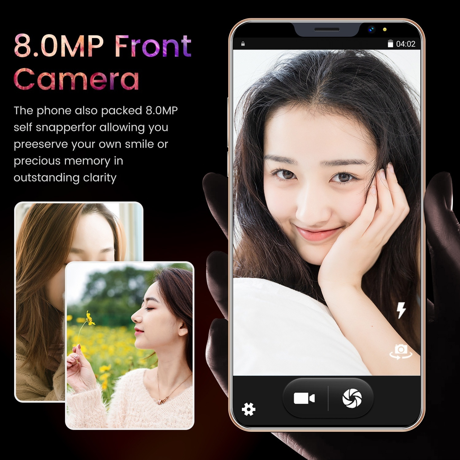 New smart phone i13 large screen 5.8-inch 4 64GP HD large screen smartphone Support face recognition / dual card dual standby