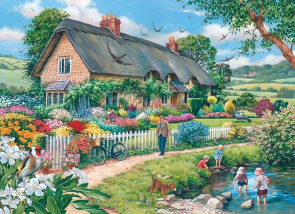 outdoors party-1000 Pieces Puzzle [Buy 2 Free Shipping]