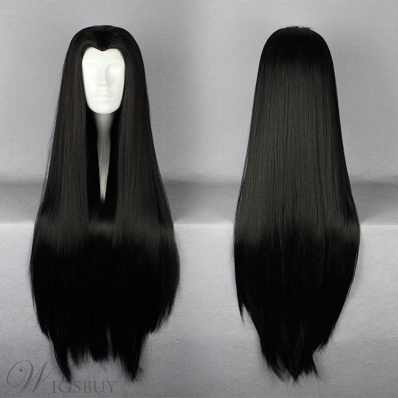 2020 New Straight Wigs Black Long Hair Philips Hair Straight Curly Long Black Wig