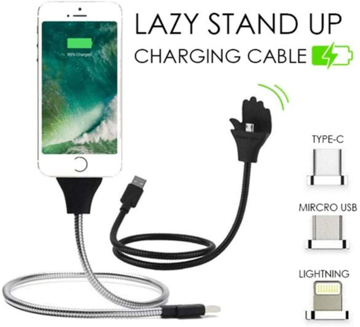 (New Year Sale- Save 50% OFF) Lazy Stand Up Charging Cable- Buy 2Get Extra 10% OFF