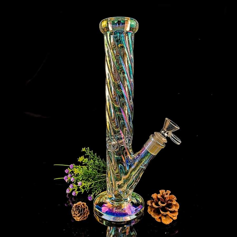 Unique Glass Joint 14.5mm Pipes Bubblers for Smoking Recycler Tobacco Glass Ice Water Recycler Hookah Pen