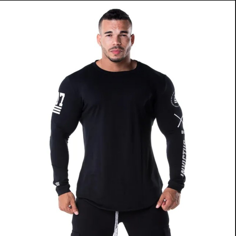 Fitness training long sleeve bottoming shirt Breathable stretch tights