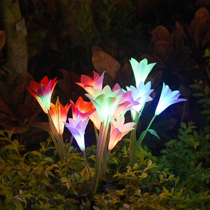 Lily flower solar light(Buy 5 free shipping)---Last days 40% off