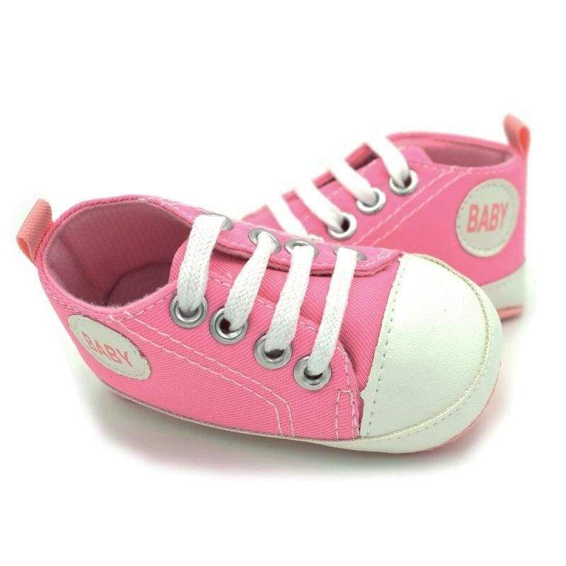 Bobora Infant Baby Kids Canvas Sneakers Toddlers Boy Girl Soft Sole Anti-slip Shoes Prewalkers 0-18 Months