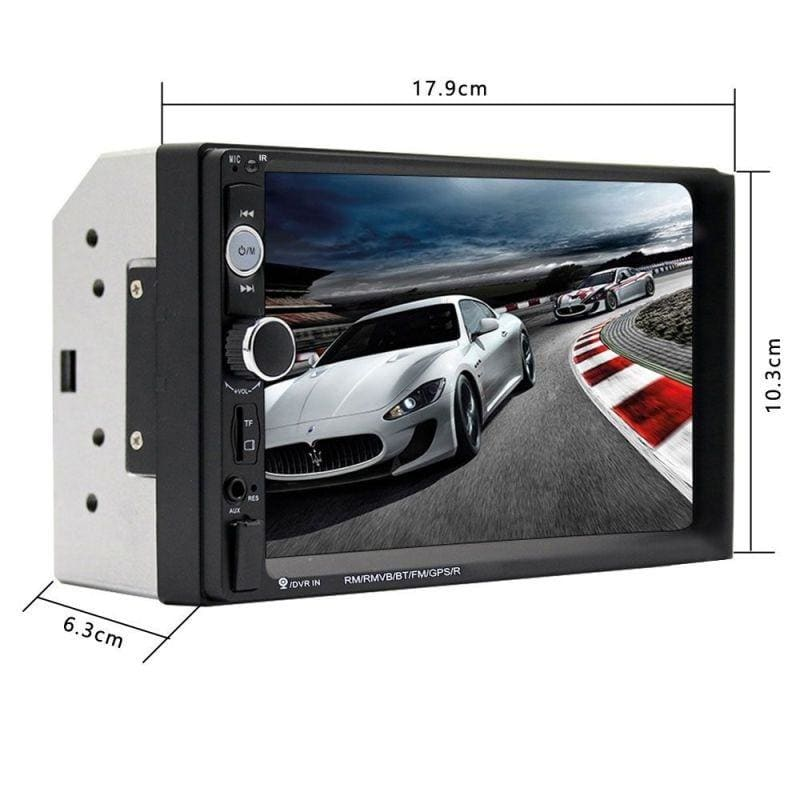 Touch Screen 7 Inch Bluetooth HD Radio Car Video Player MP5 Digital Display Bluetooth Multimedia Build-in Autoradio FM AUX USB SD Function with steering wheel control