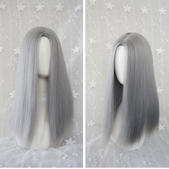 2020 New Gray Hair Wigs For African American Women Brown Lace Front Wigs Medium Grey Hair Freedomwigstore Young Women With Gray Hair Farrah Fawcett Wig