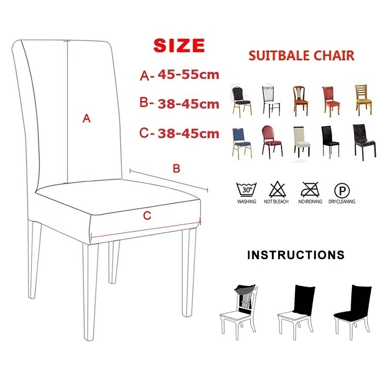 4/6/8/10PCS Super Fit Stretch Removable Washable Short Dining Chair Protector Cover Seat Slipcover for Hotel,Dining Room,Ceremony,Banquet Wedding Party