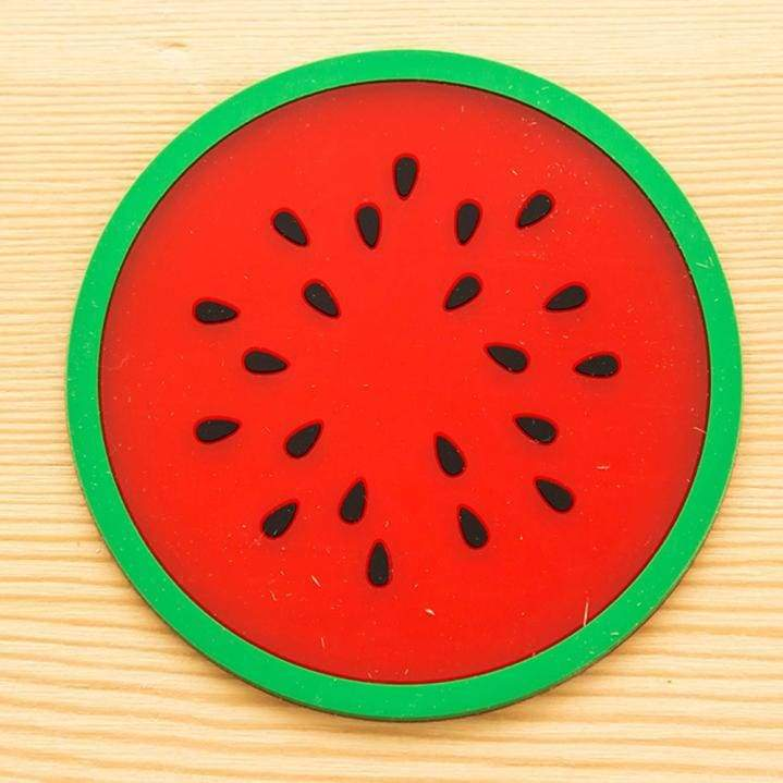 Tableware placemat silicone fruit drinks holder