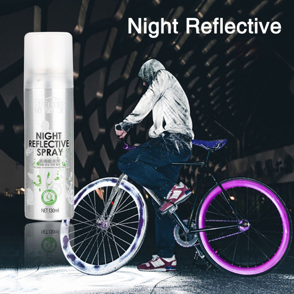 Night reflective spray Outdoor safety reflective signs Anti-accident cycling bicycle running fluorescent