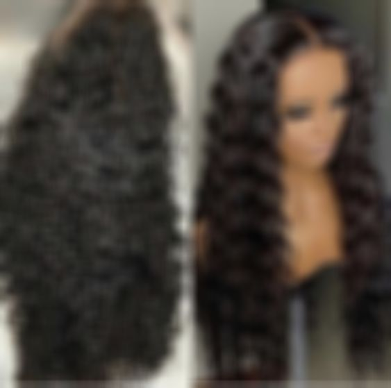 Lace Front Wigs Black Hair wig black long hair water wave curly wigs