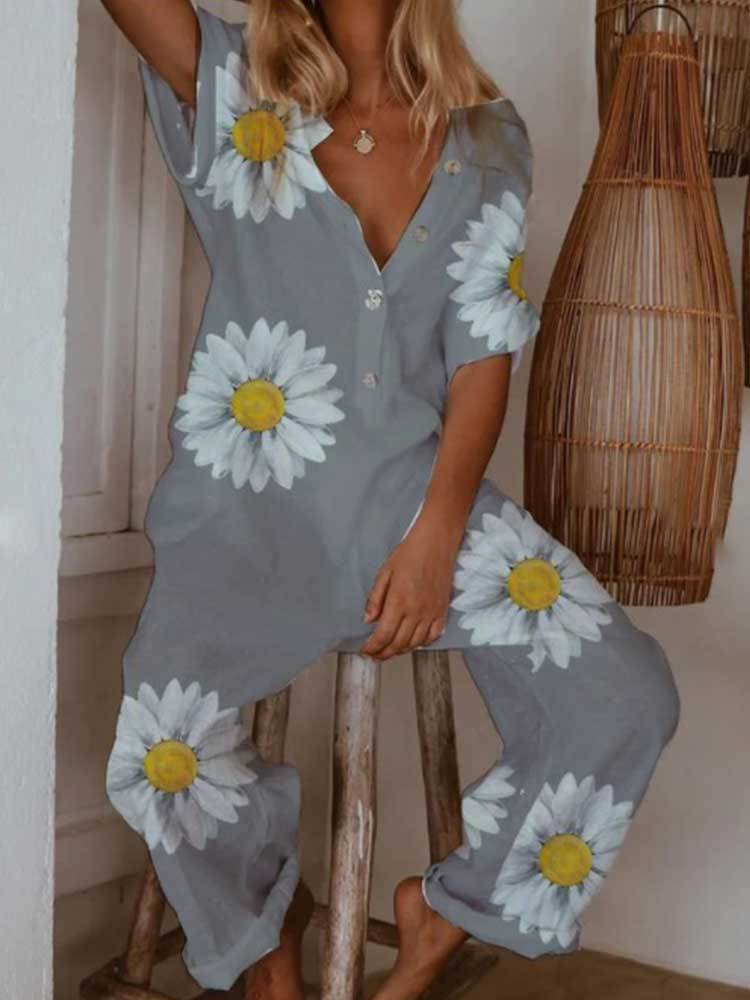 New Printed Casual Jumpsuit