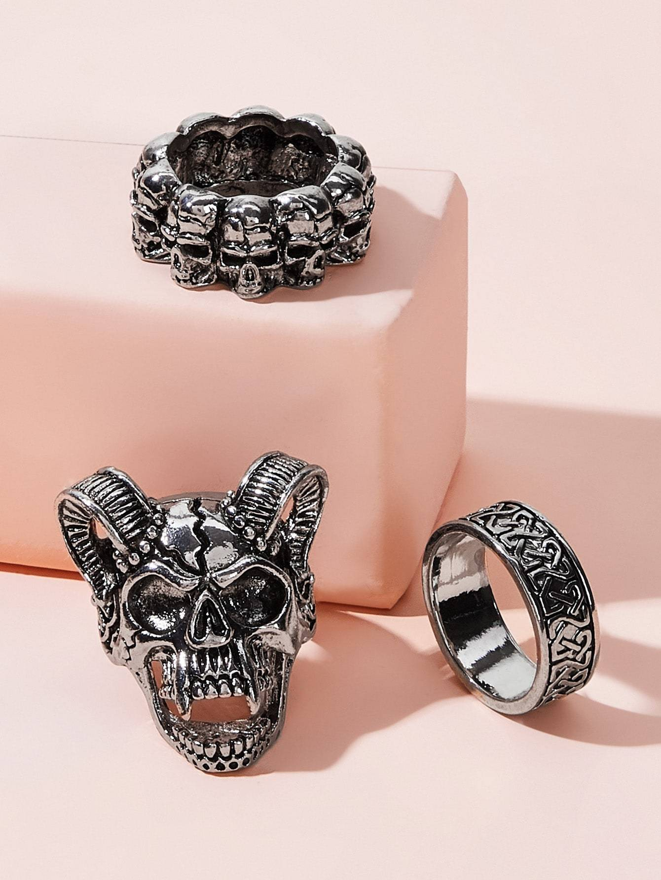 Skeleton Ring 3pcs