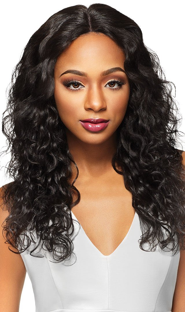 outre Gold Label 100% Unprocessed HH Lace Front Wig Natural Wave 20