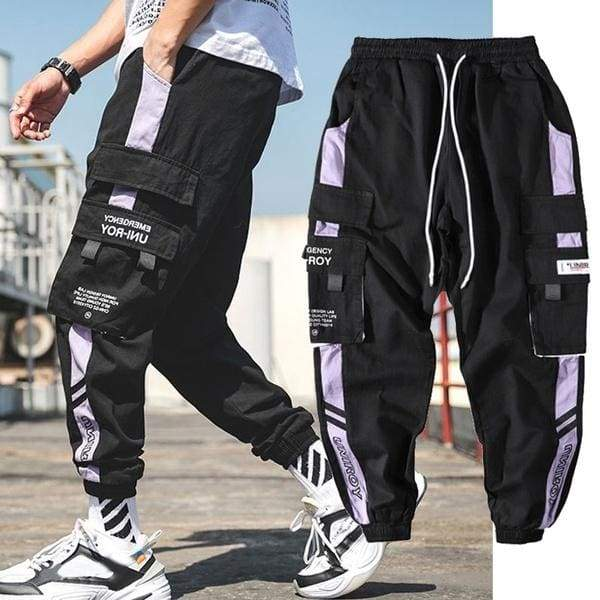 Tide Brand Men's Casual Pants Loose Trend Beam Pants Sports Multi-pocket Tooling Pants Casual Pants Men's Overalls Men's Pants Nine Points Casual Pants Beam Feet Men's Harem