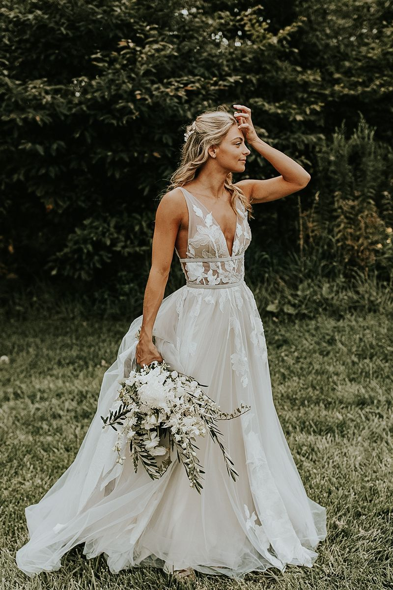 Lace Wedding Dresses 2020 New 715 Women'S Floral Chiffon Dresses Cute Outfits For Teens Long Sleeve Lace Boho Wedding Dress Cocktail Gown Casual Wedding Dresses For Older Brides Igbo Traditional Wedding Attire 2019