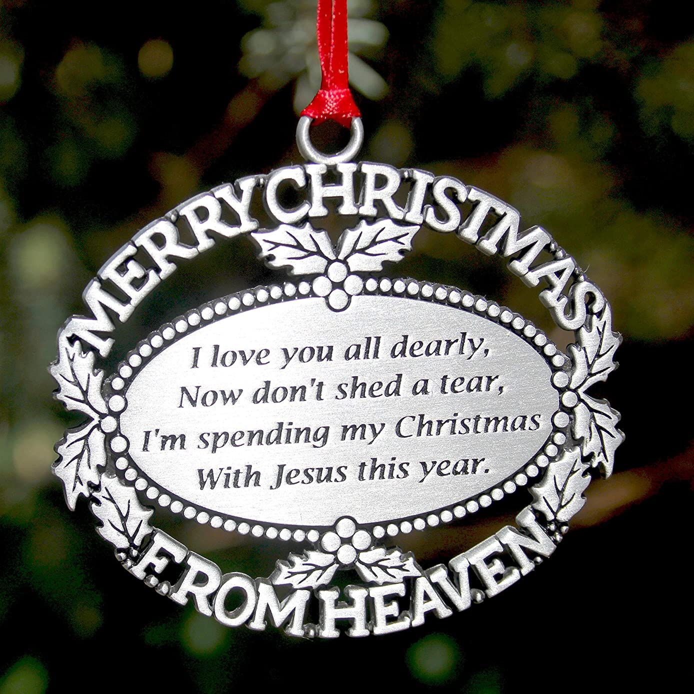 💘Christmas Sale🎄Merry Christmas From Heaven 🎄Ornament With Gifts Box 🎁 FREE Bookmark 🎁