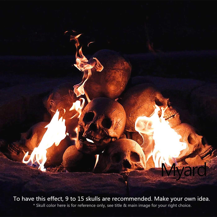 Halloween Hot sale Terrifying human skull fire pit