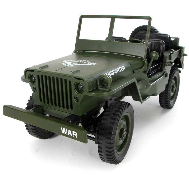 JJRC Q65 Transporter-6 2.4G 1/10 4WD Convertible Jeep Off-road Military RC Car RTR