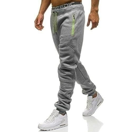 Fashion Mens Solid Color Casual Trousers Sports Sweatpants