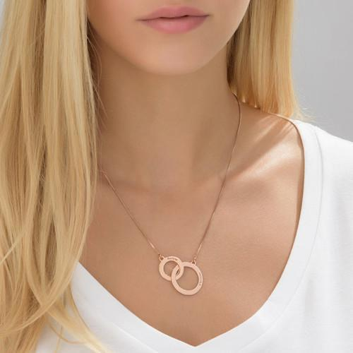 Engraved Eternity Circles Necklace