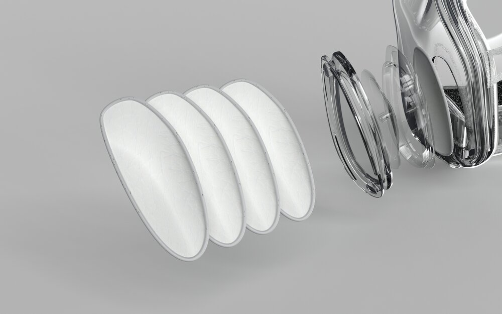 Clear Smart Silicone Reusable Mask filter(10pcs)