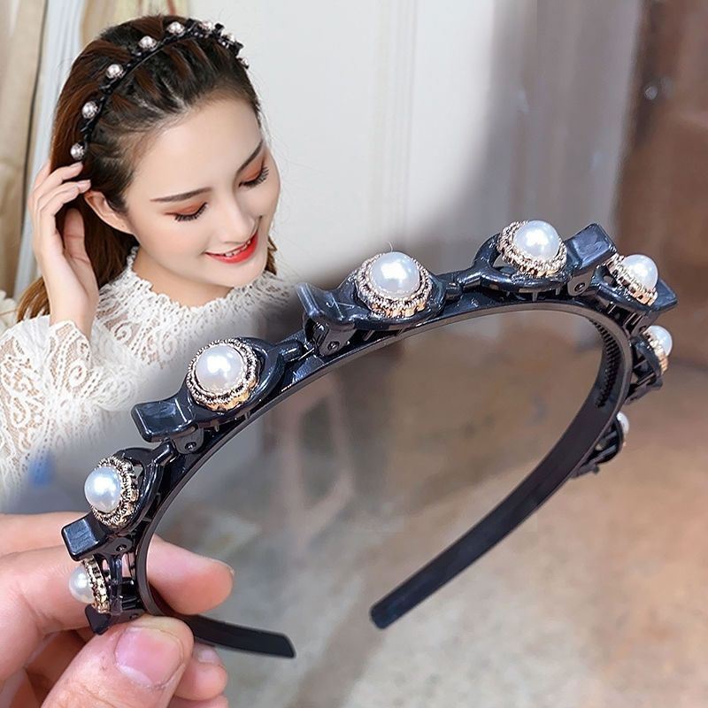 2021 Korean Brand New braided headbands with clips