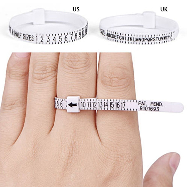 Professional Ring sizer UK/US Official Size Finger Measure Jewellery Tools Ring Size Mandrel Stick Finger Gauge Ring Sizer Measuring Jewelry Tool Set Ring Size Fashion Jewellery Tools
